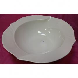 White Glazed Melamine Round-shaped Serving Platter Bowl