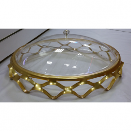 Oval-shaped durable Acrylic Clear Serving Platter