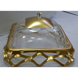 Square-shaped durable Acrylic Clear Serving Platter