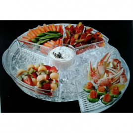 On Ice Appetizers Server with Lids