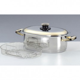 Deluxe Oval Pot, Rack and Cover
